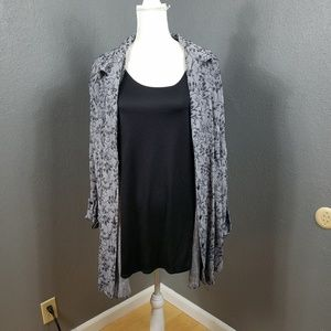 Maggie Barnes Two Fer Blouse Top Tank 32W New